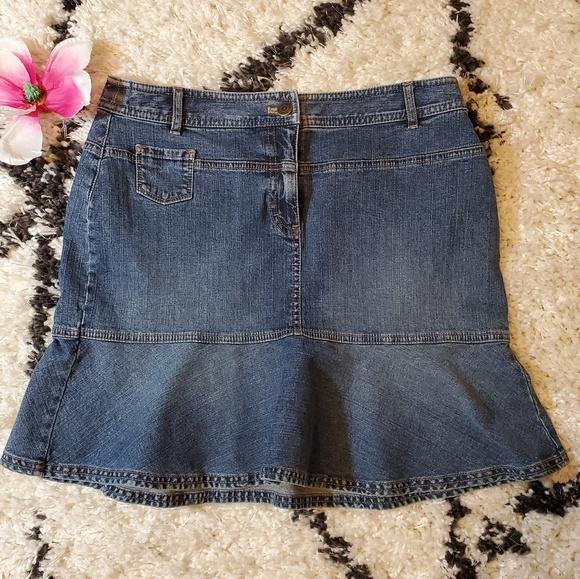 1c86d84335 Ann Taylor Skirts | Loft Denim Skirt | Poshmark